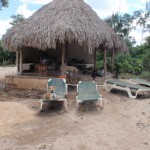 Palapa for shade and wading pool