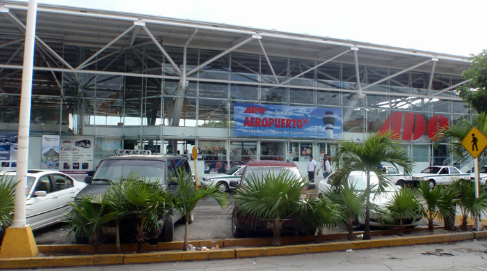 ADO bus depot in Cancun