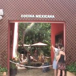 funny Christmas Nativity with Mexican Kitchen sign