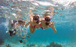snorkeling Isla Mujeres Catamaran
