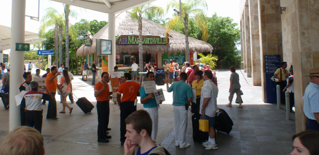 Terminal 3 at the Cancun Airport