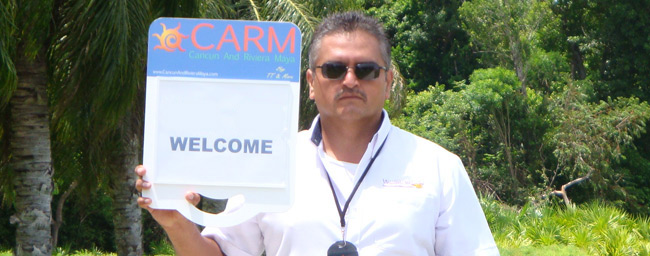 CARM Transfers Airport Sign