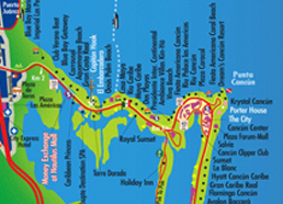 Maps Cancun Map Of Hotels on